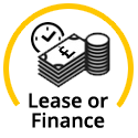 Finance or Lease budget options icon