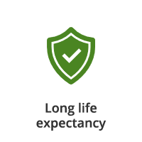 Long life expectancy icon